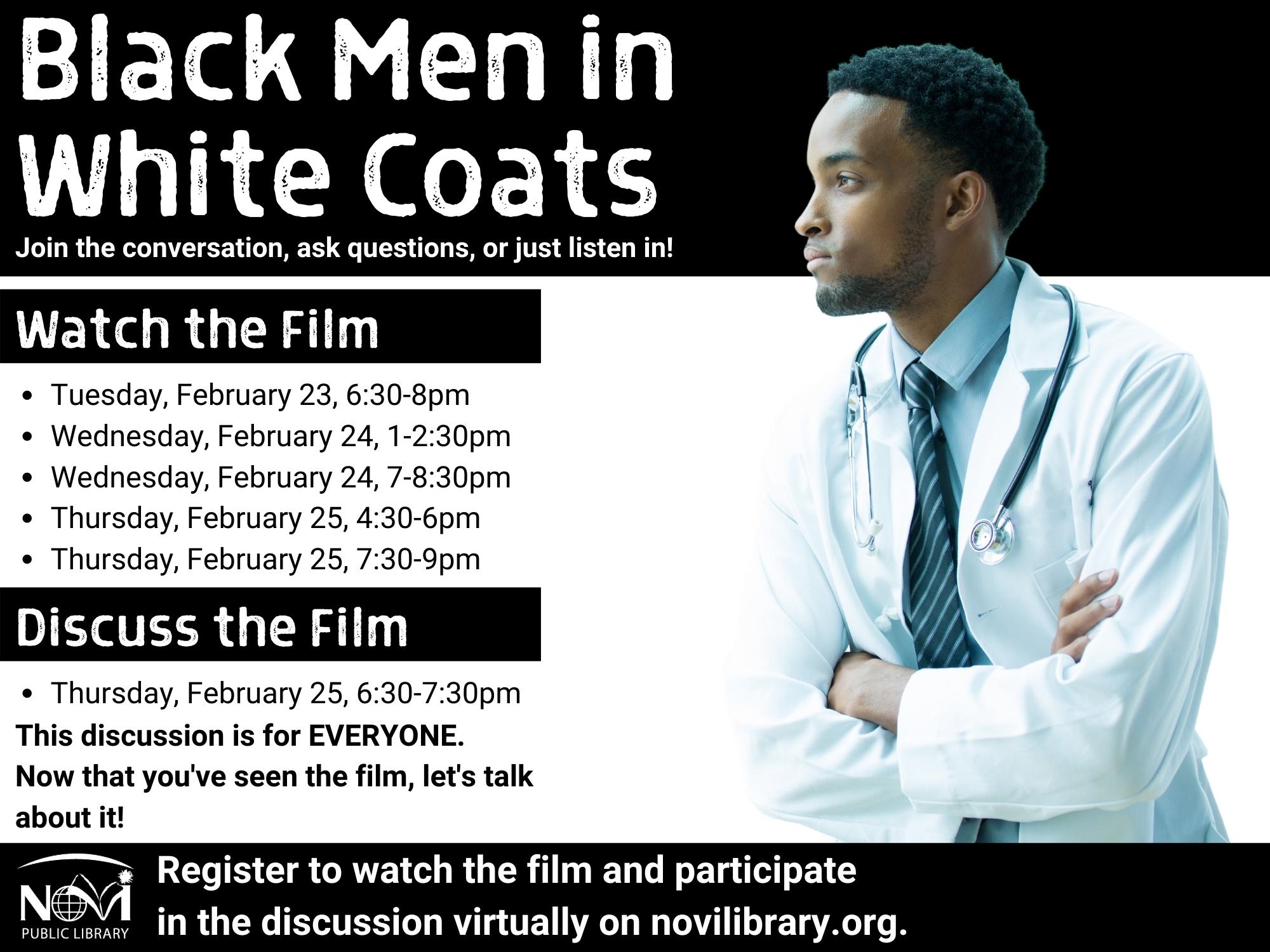 Black Men in White Coats Film
