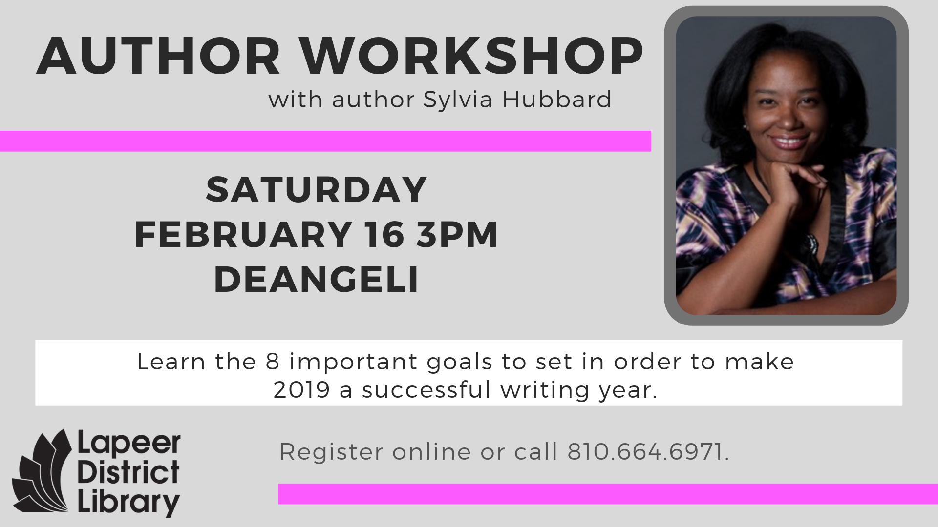 Author Workshop with author Sylvia Hubbard