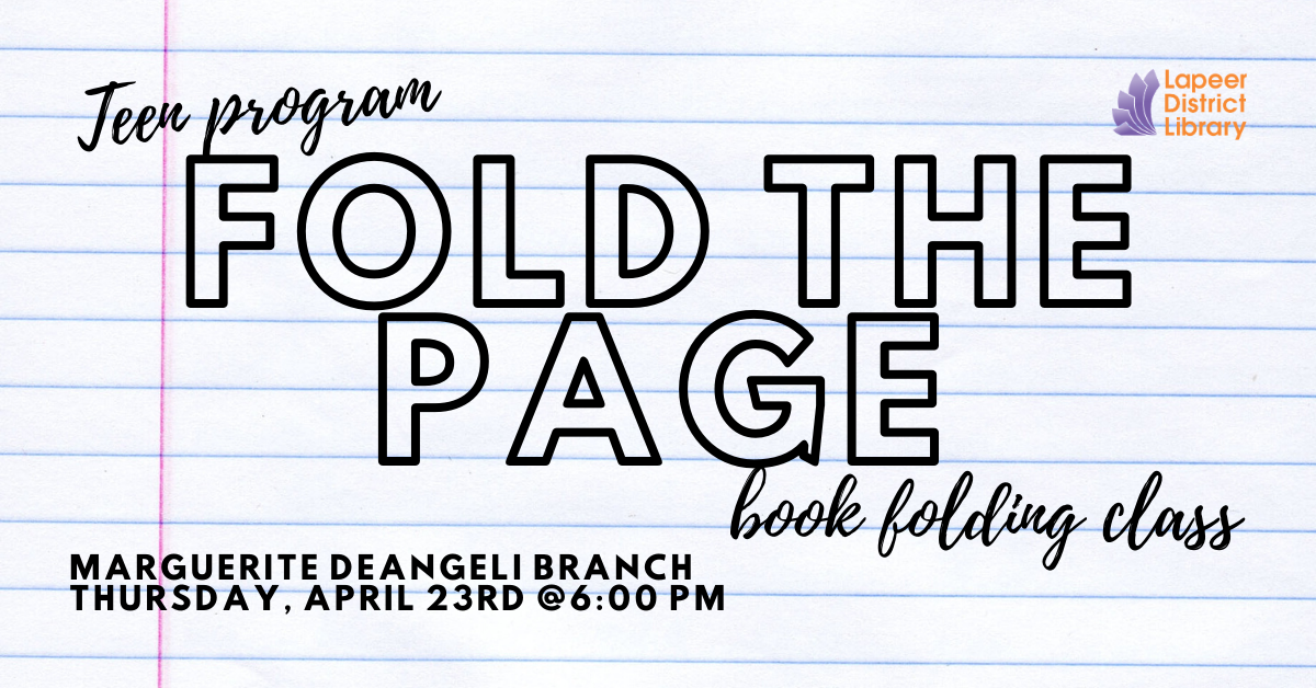 Fold the Page: book folding class
