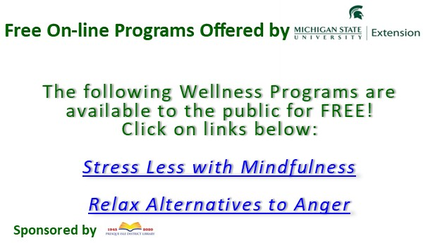 Stress Less wth Mindfulness On-line and Relax:  Alternatives to Anger Series
