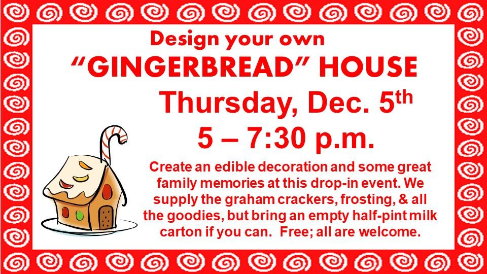Gingerbread Workshop!