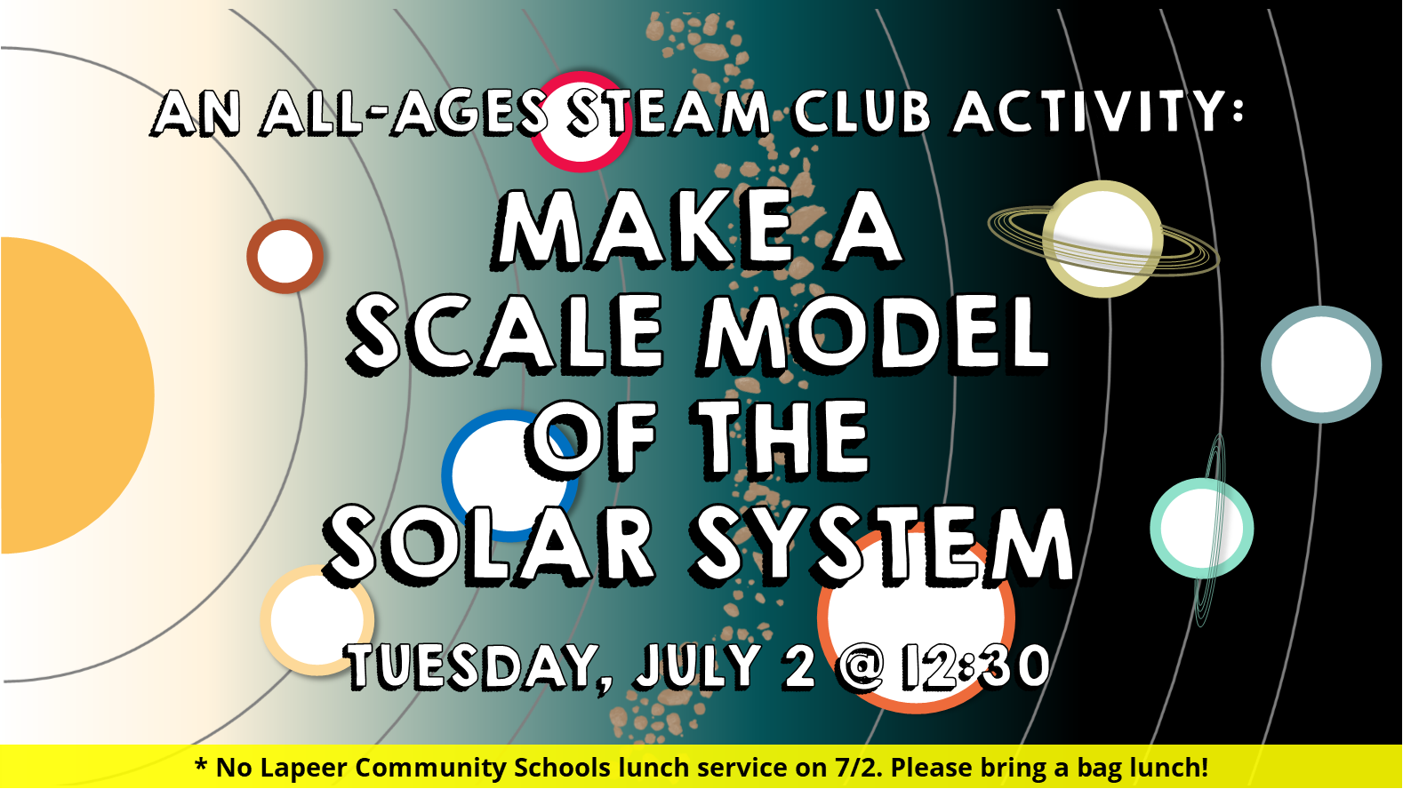 All-Ages STEAM Club - Scale Model of the Solar System