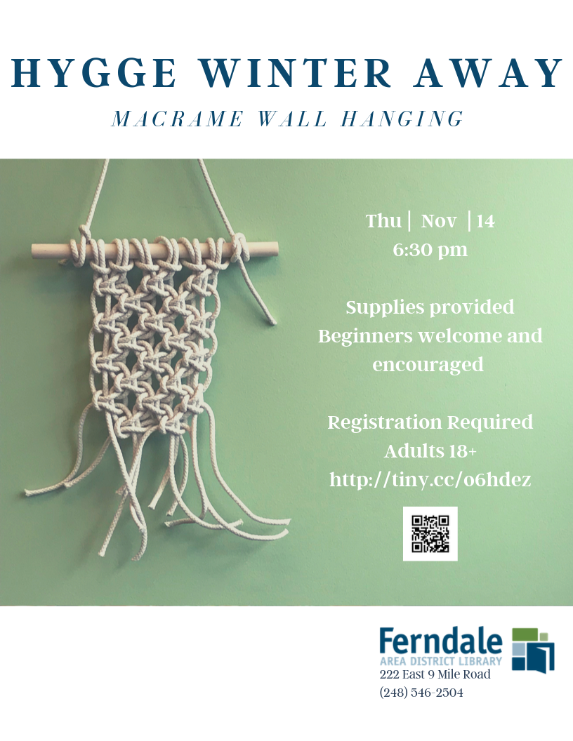 Hygge Winter Away: Macrame Wall Hanging