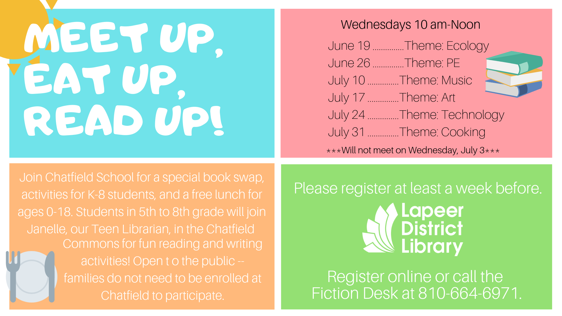 Meet Up, Eat Up, READ Up! - Chatfield School