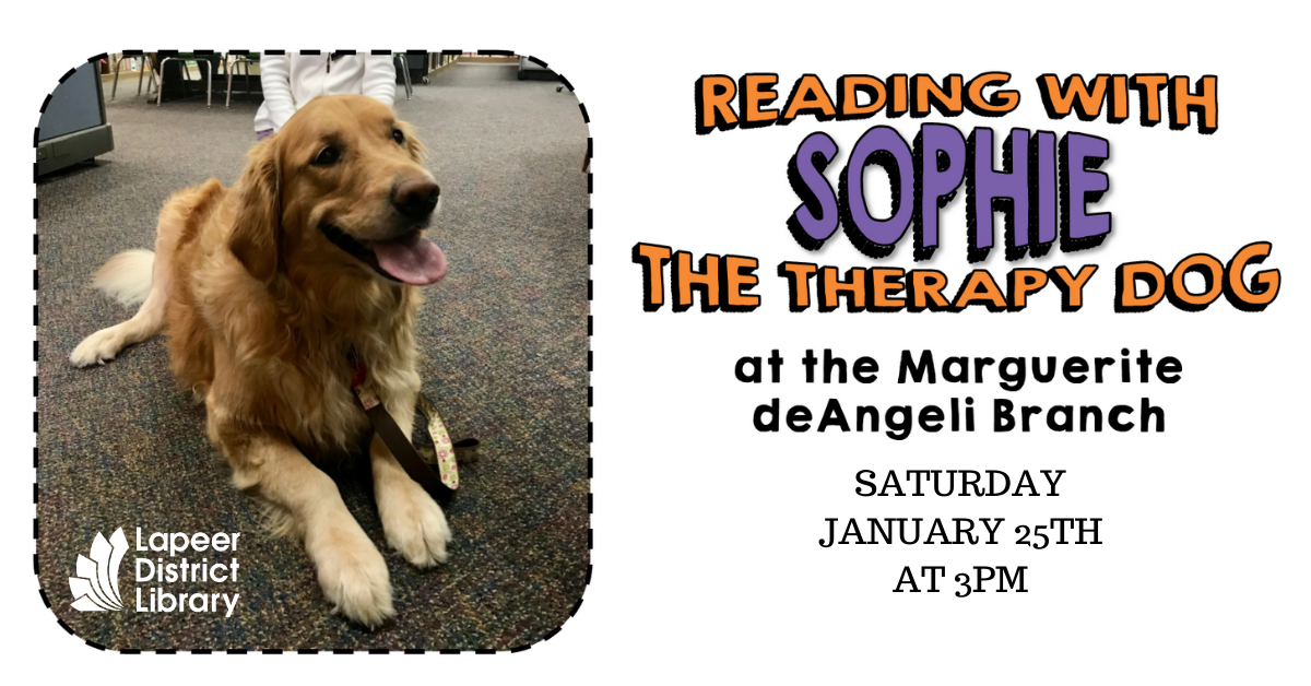 Read to Sophie the Therapy Dog
