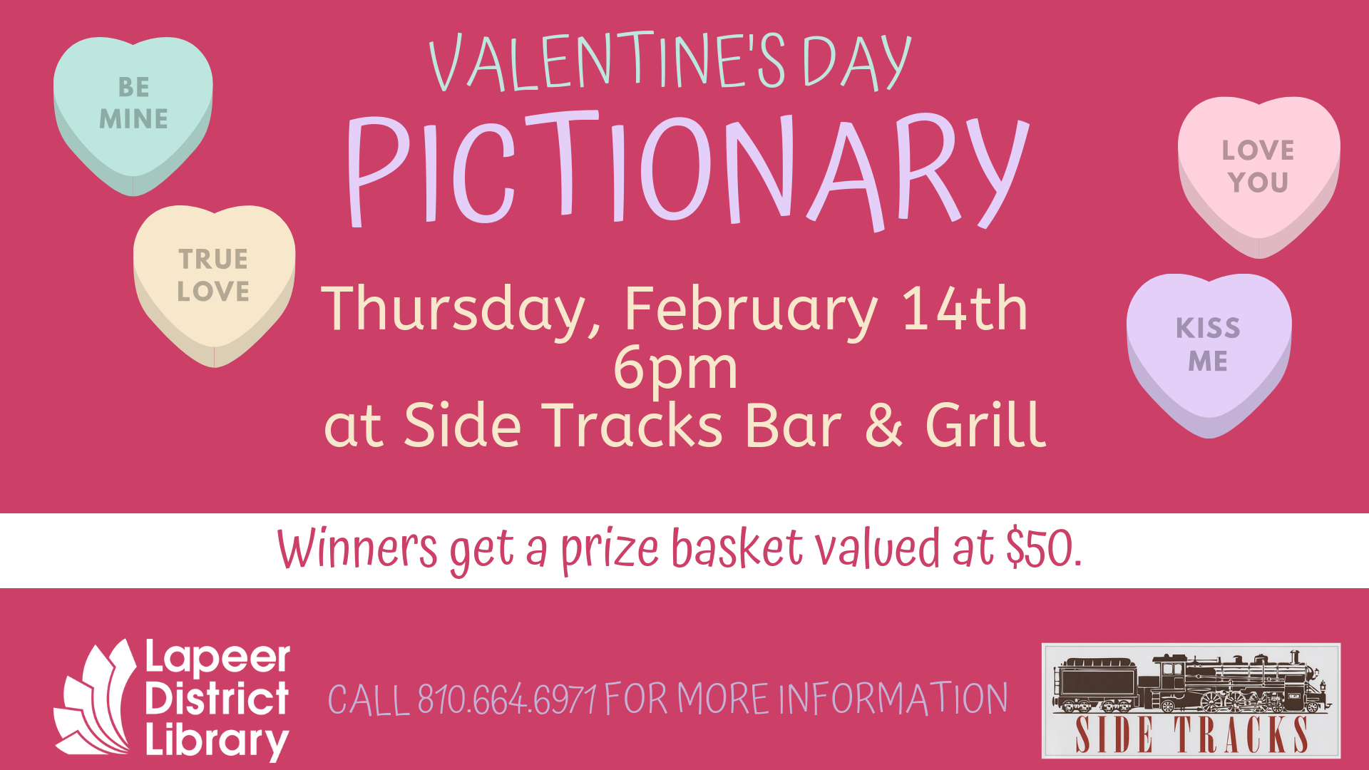 Valentine's Day Pictionary at Side Tracks Bar & Grill
