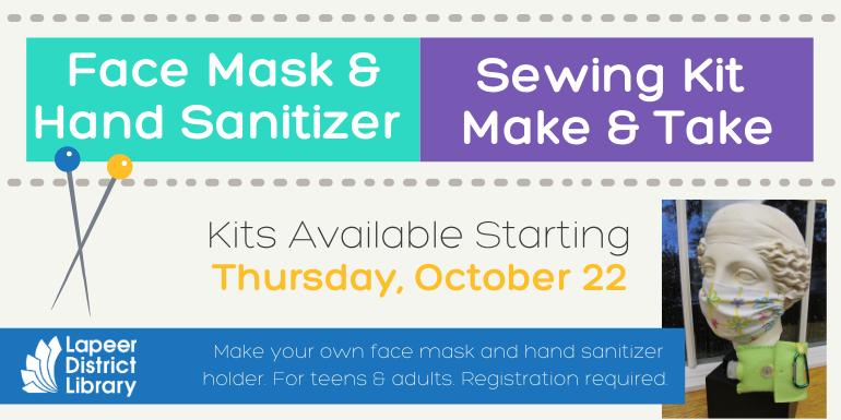 Face Mask & Hand Sanitizer Sewing Kit  Make & Take