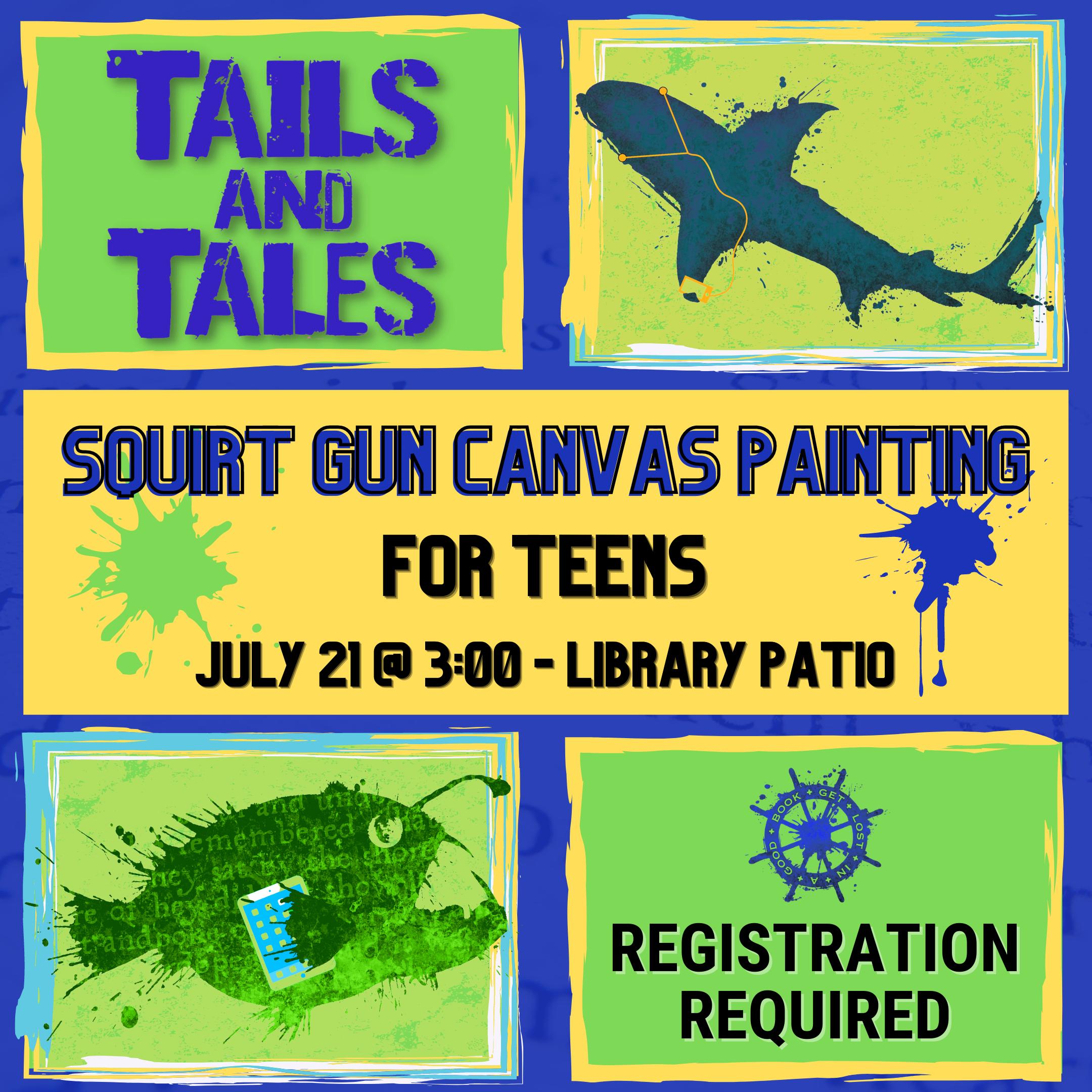 Teen Squirt Gun Canvas Painting