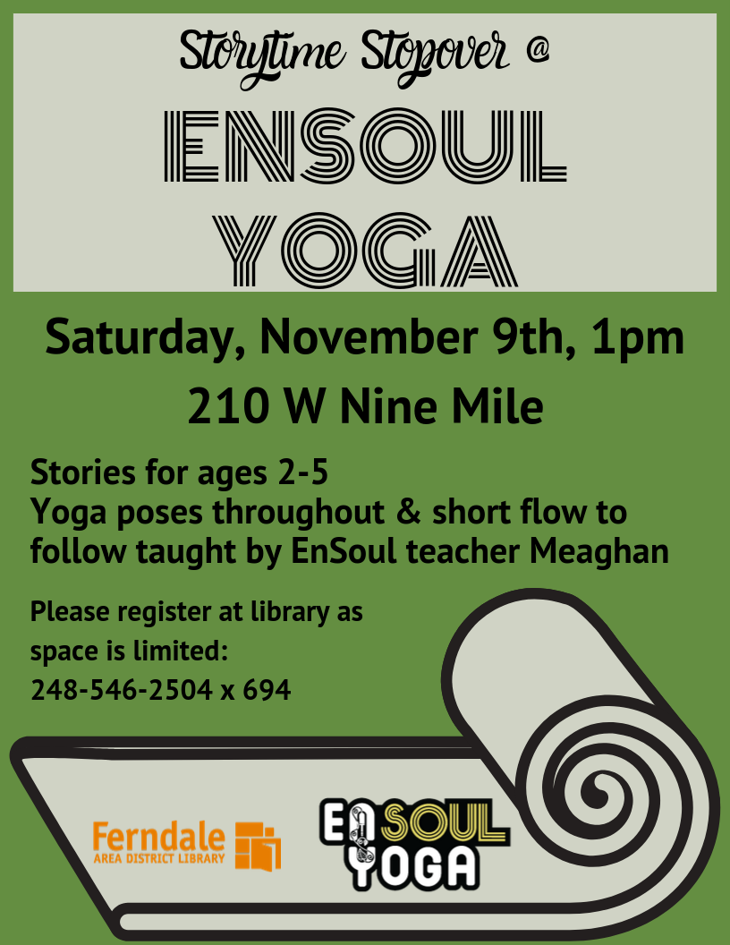 Storytime Stopover @ EnSoul Yoga (Ages 2-5)
