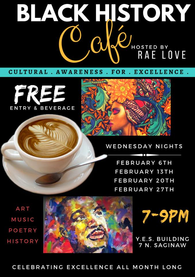 Black History Cafe'  Hosted by Rae Love