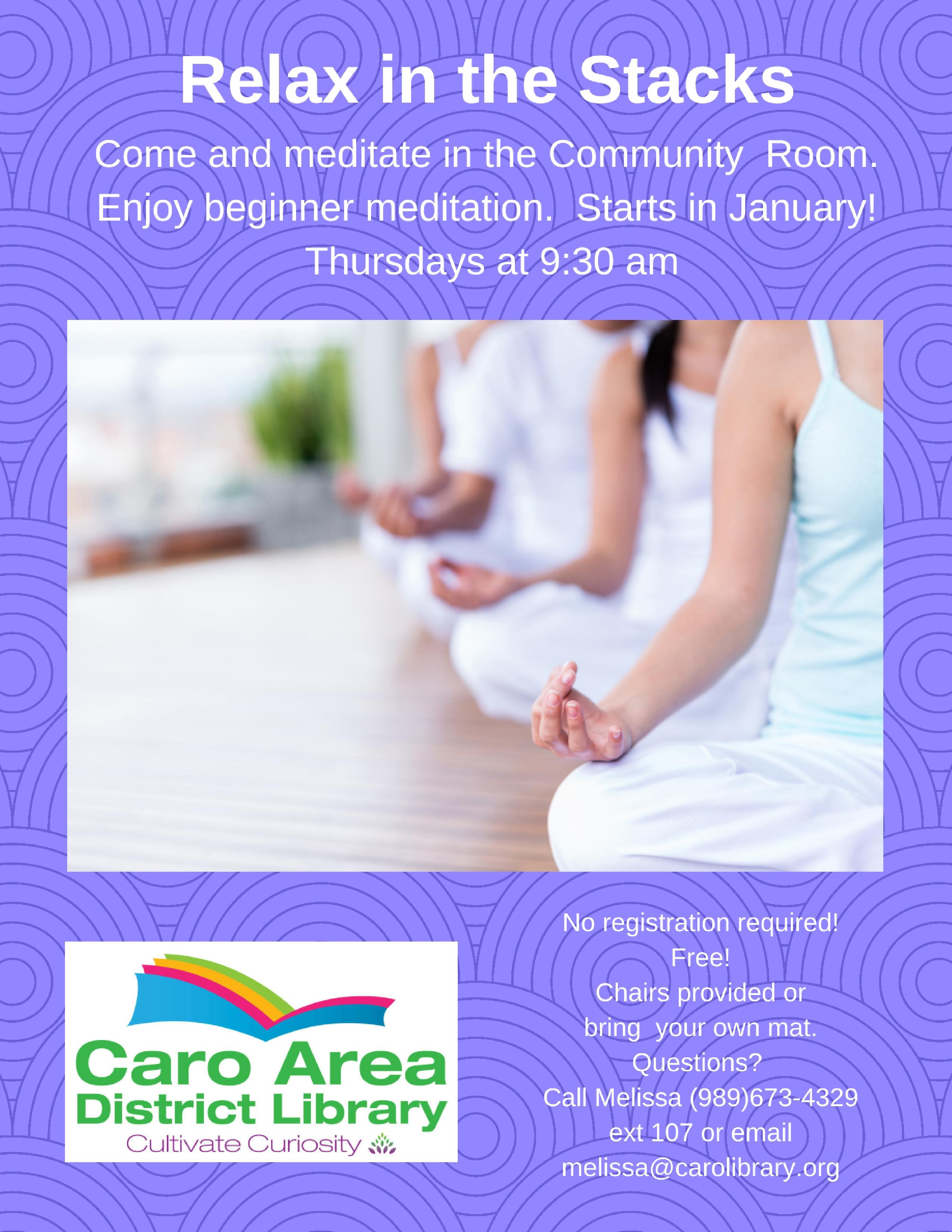 Relax in the Stacks- Beginner Meditation