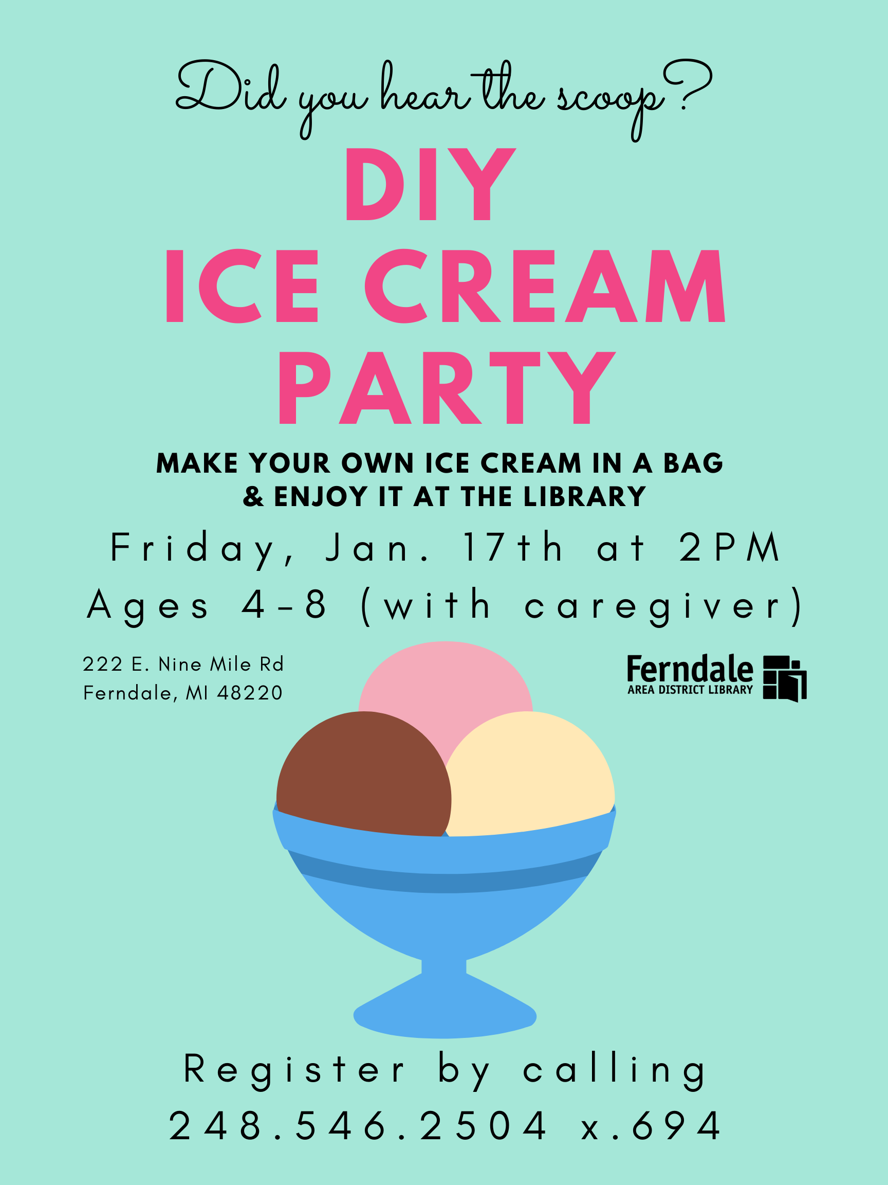 DIY  Ice Cream Party (Ages 4-8)