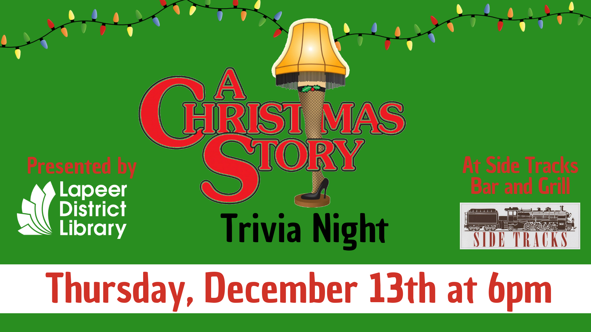 A Christmas Story Trivia at Side Tracks Bar & Grill