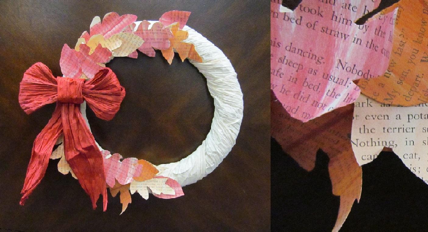 Autumn Paper Craft Wreath