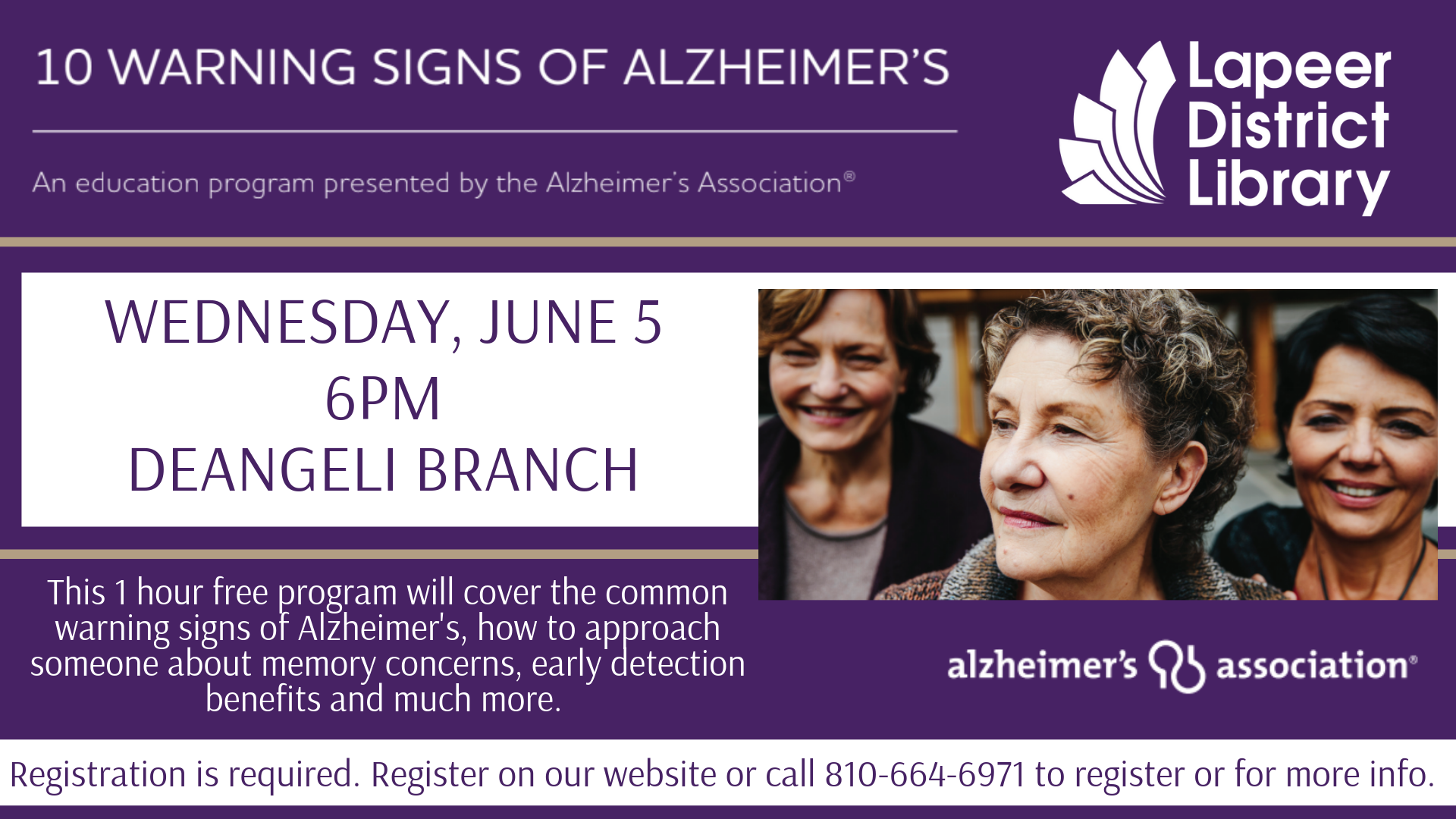 10 Warning Signs of Alzheimer's Presented by the Alzheimer's Association