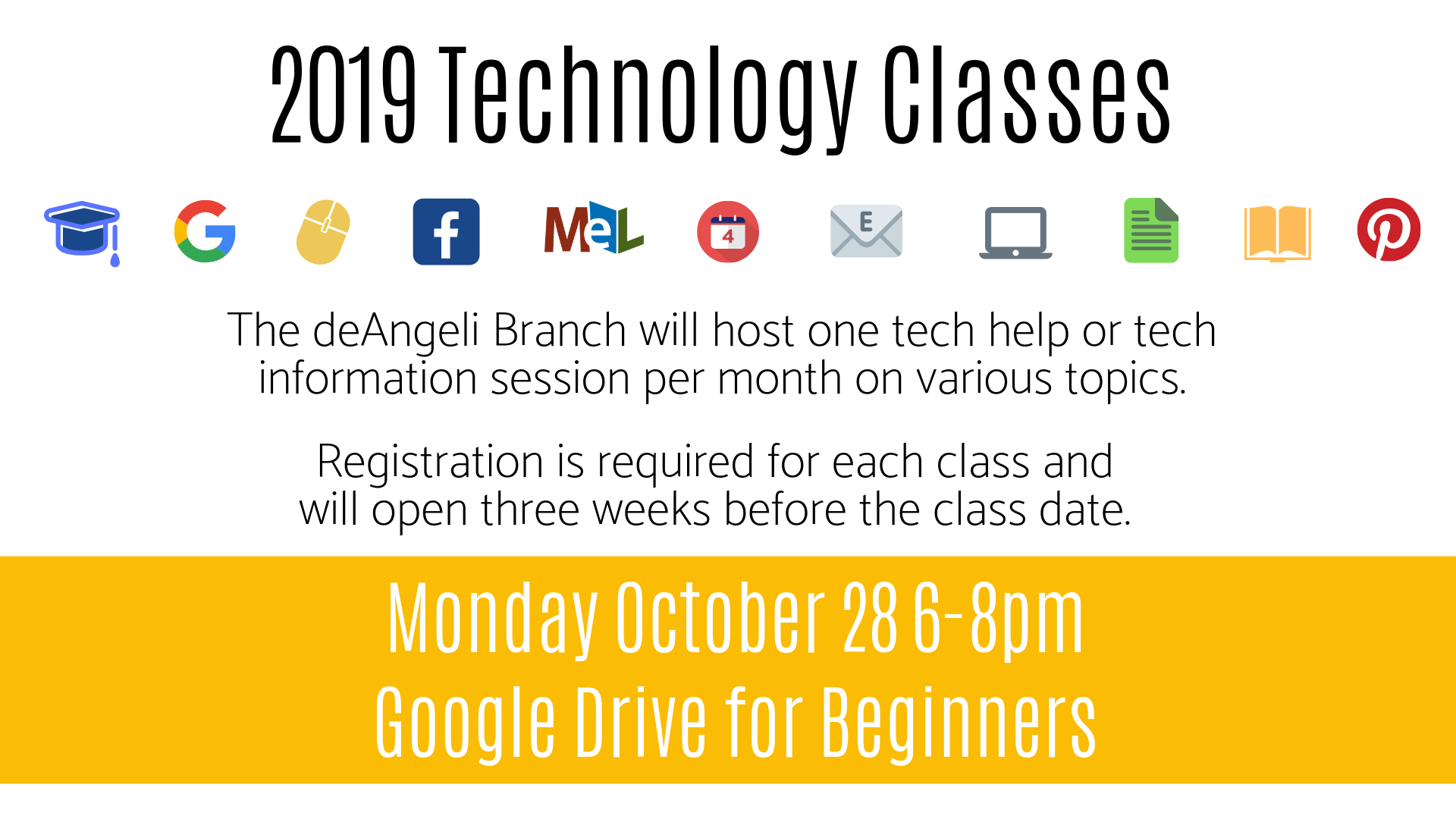 Google Drive for Beginners Technology Session - Monday