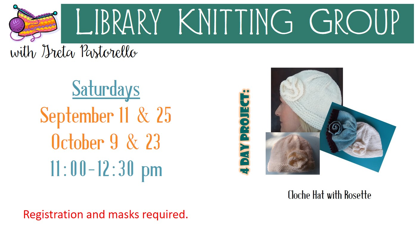 Library Knitting Group with Greta