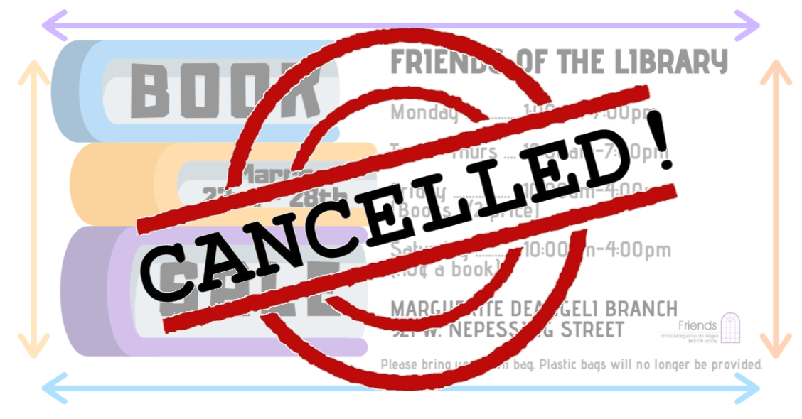 CANCELLED - Book Sale! Friends of the Marguerite deAngeli