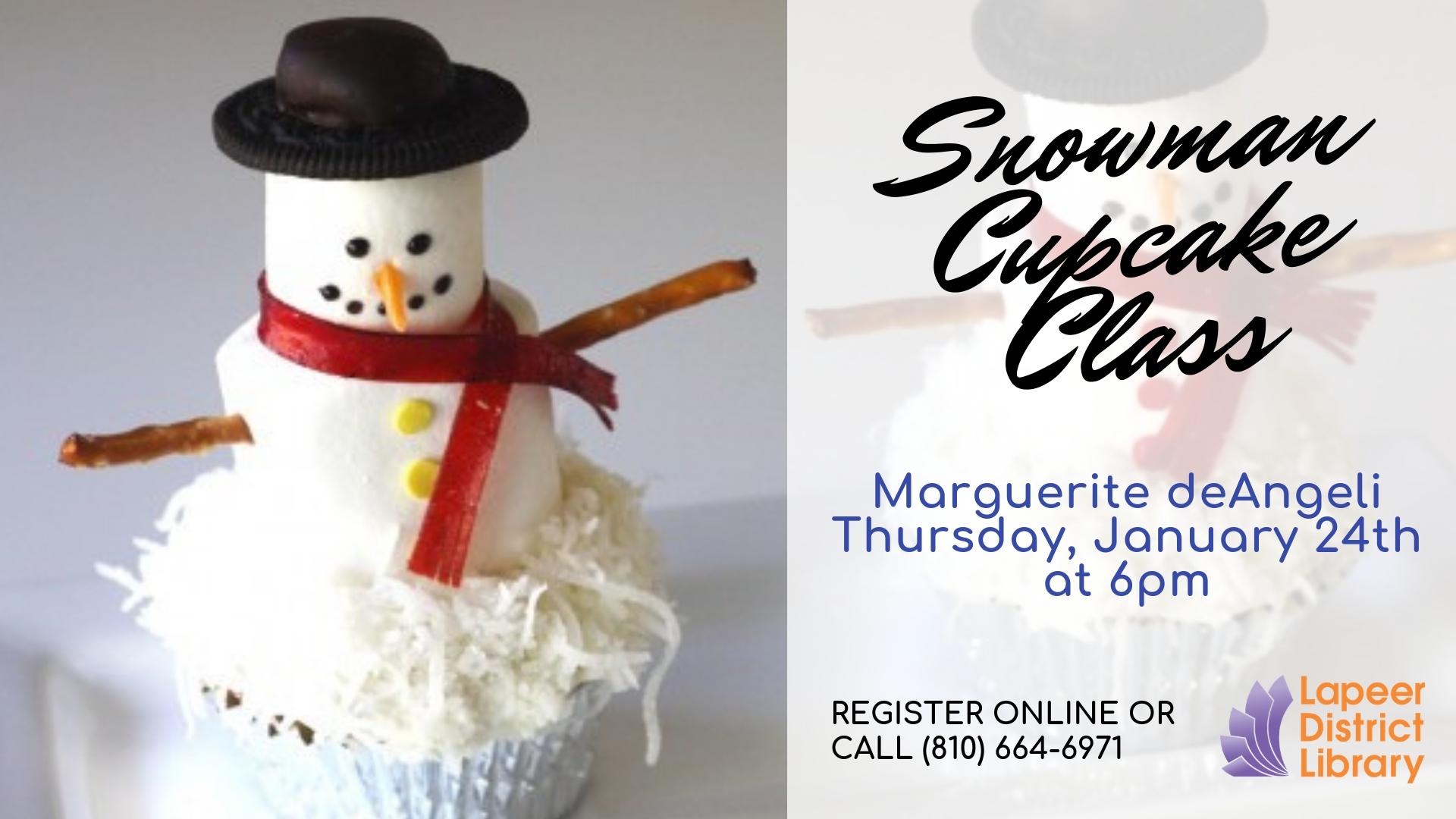 Snowman cupcake class