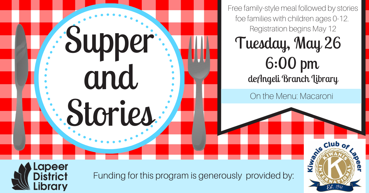 CANCELLED Supper & Stories April