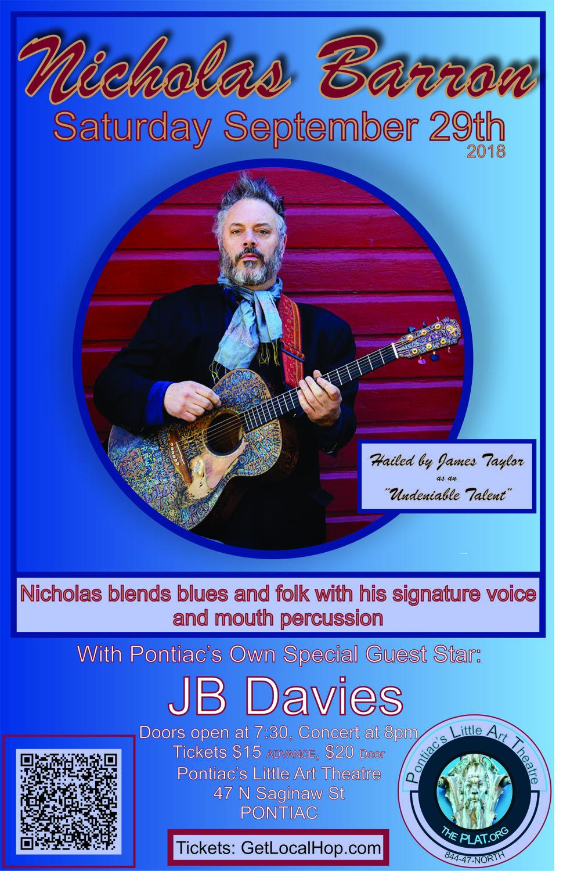 Nicholas Barron with Special Guest: JB Davies
