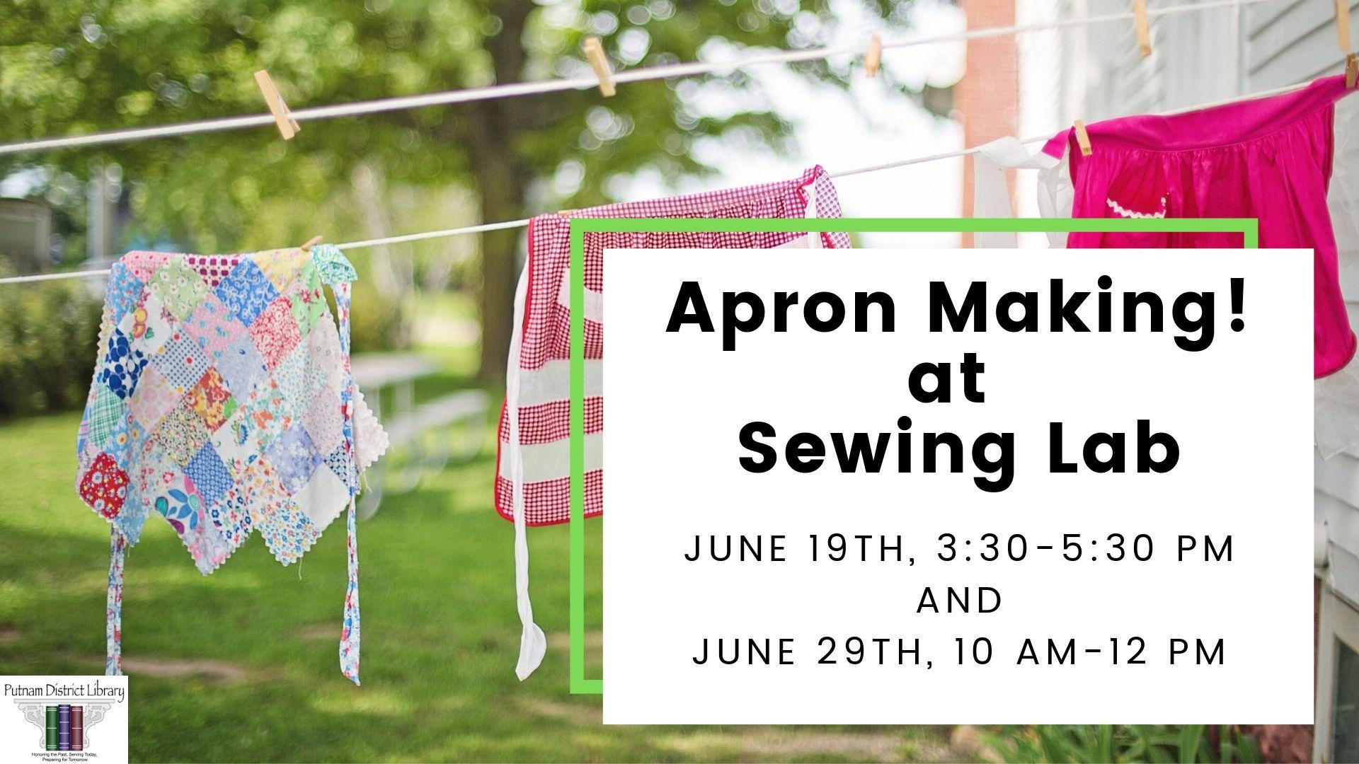 Apron Making at Sewing Lab
