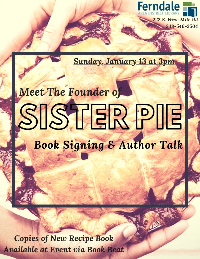 Sister Pie Book Signing