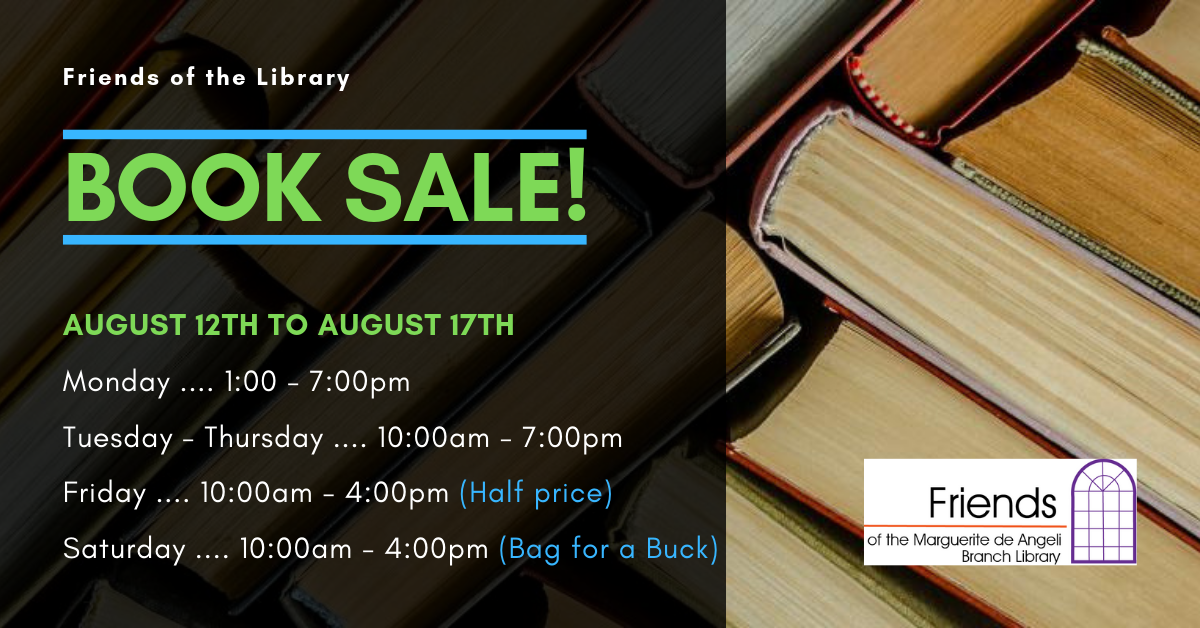 Book Sale! Friends of the Marguerite deAngeli