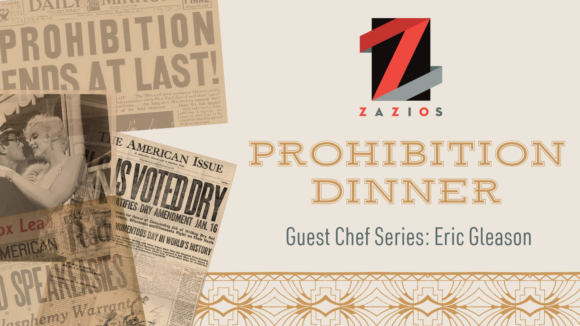 Guest Chef's Series:  Prohibition Dinner with Chef Eric Gleason