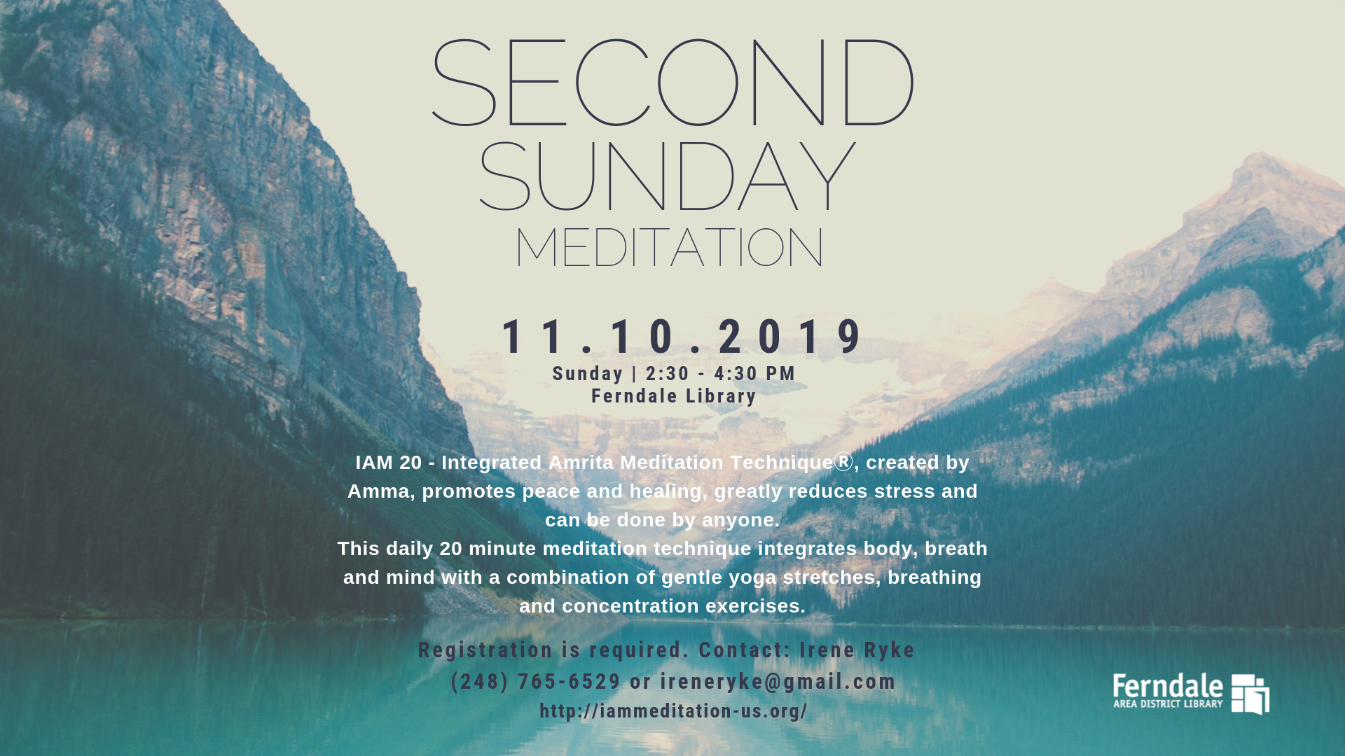 CANCELLED- Second Sunday Meditation
