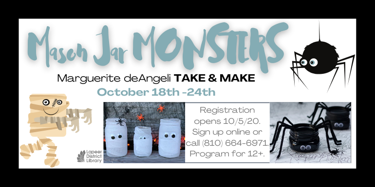 Mason Jar Monsters! - Take & Make craft