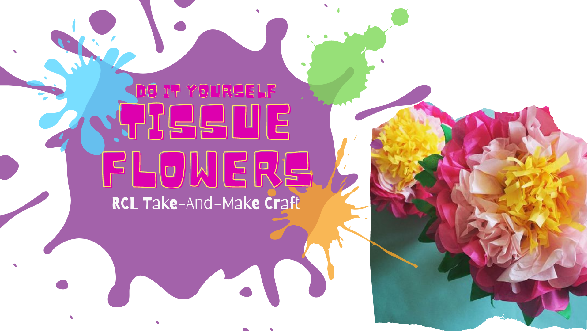 Take-And-Make Craft: Tissue Flowers