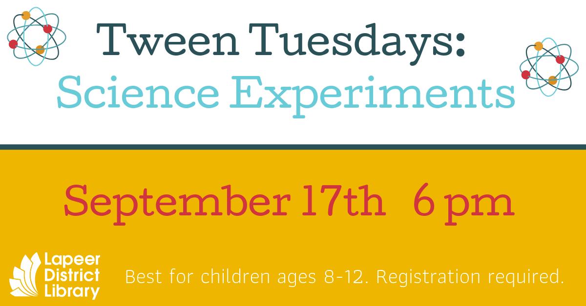 Tween Tuesdays: Science Experiments