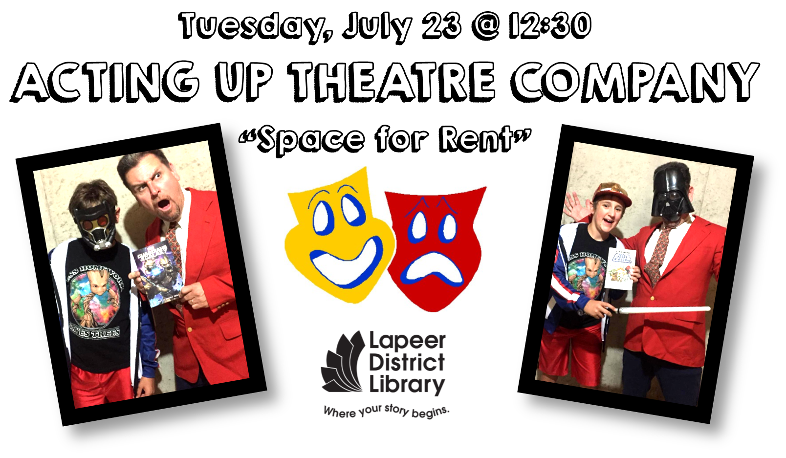 Acting Up Theatre Company presents SPACE FOR RENT