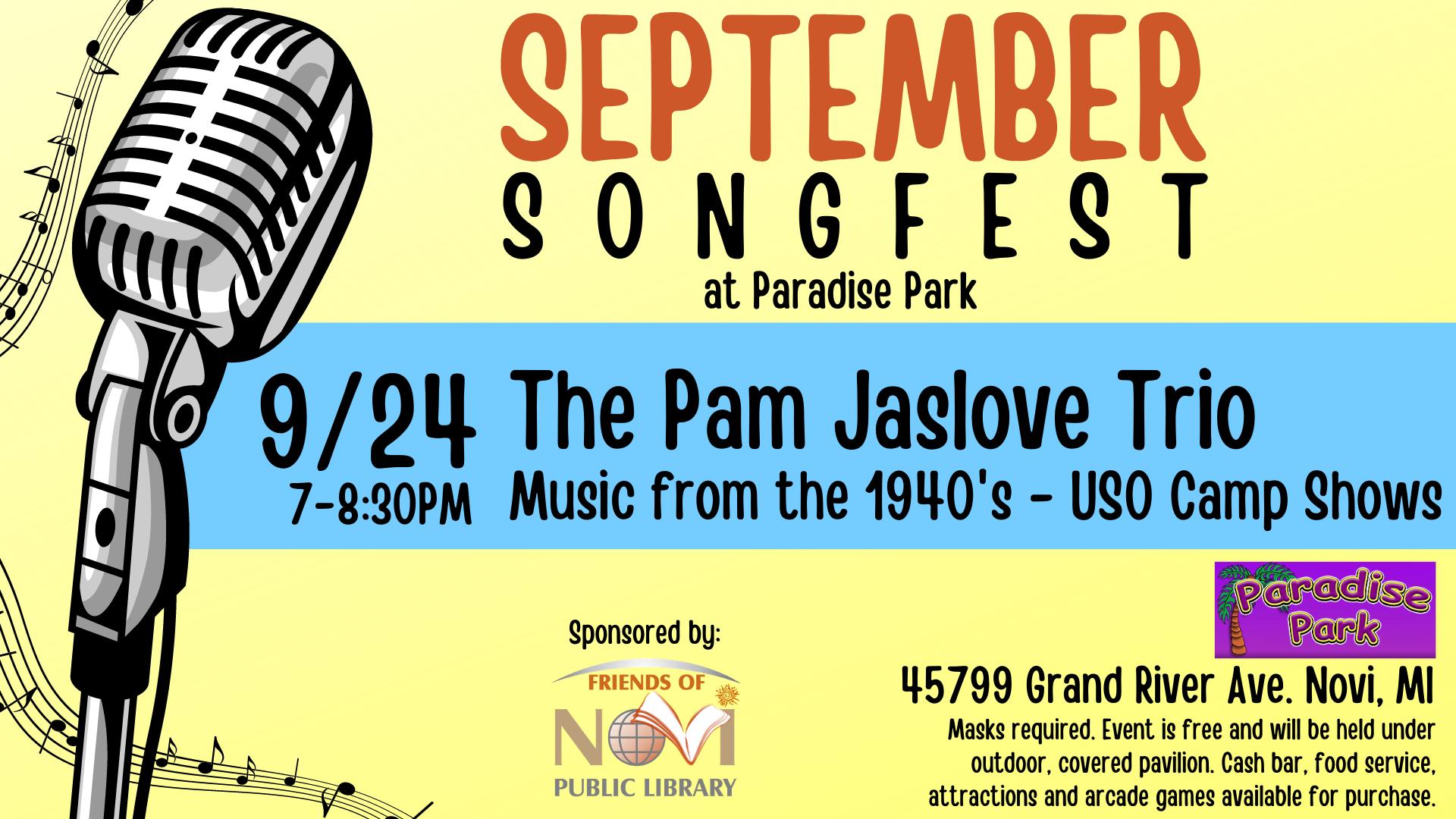 September Songfest - The Pam Jaslove Trio