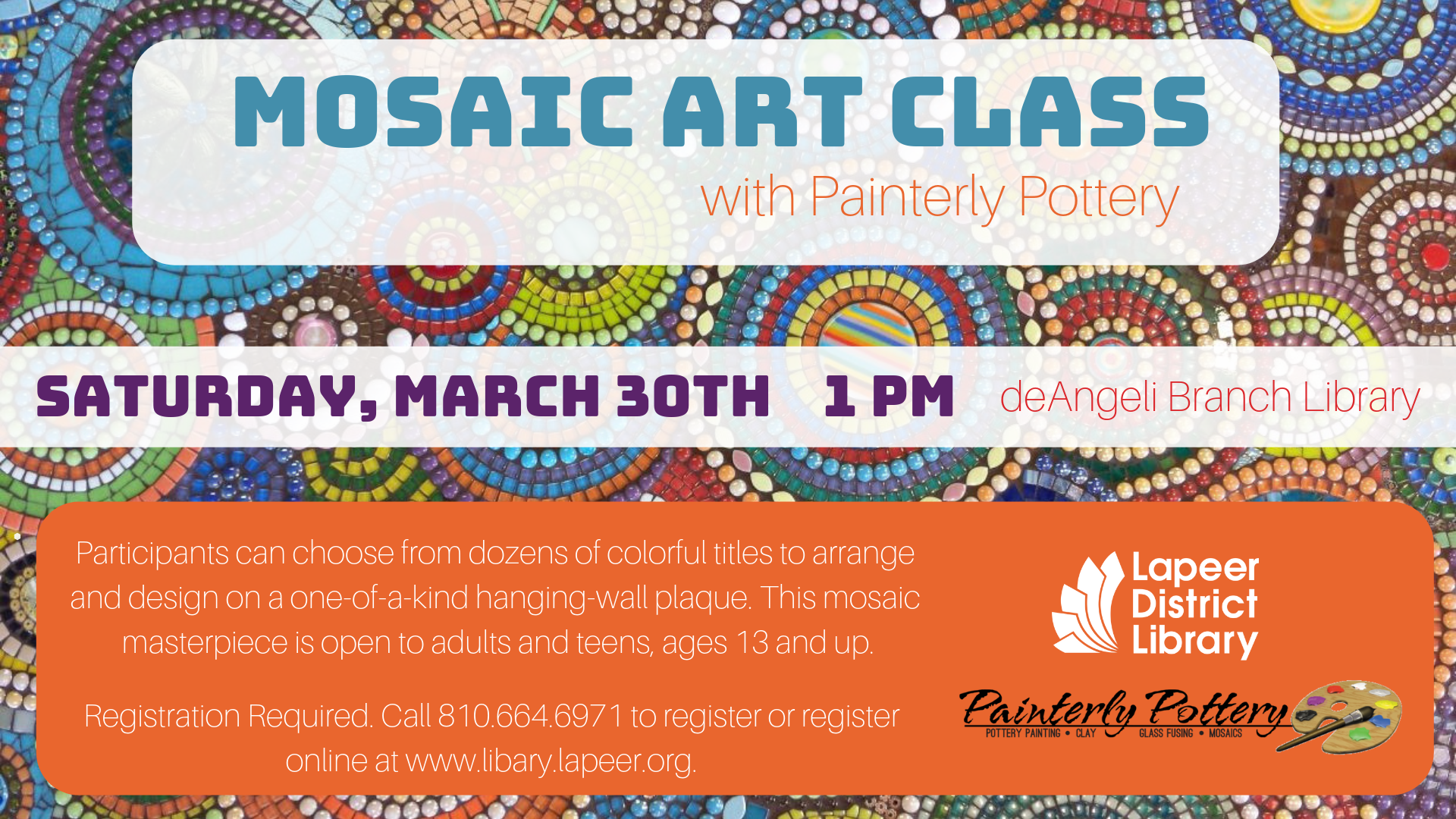 Mosaic Art Class with Painterly Pottery