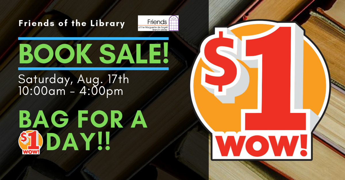 $1 a bag Book Sale! Friends of the Marguerite deAngeli