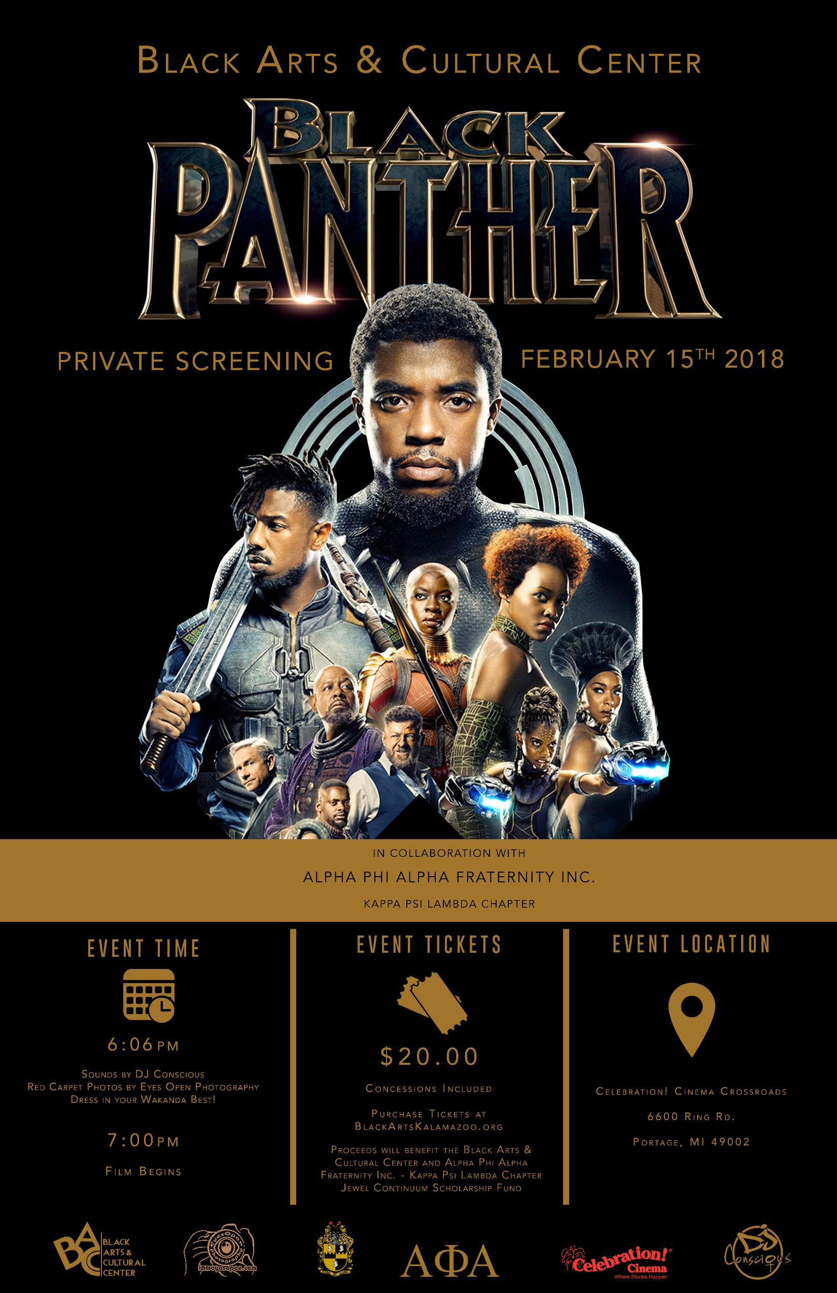 Black Panther Private Screening Localhop