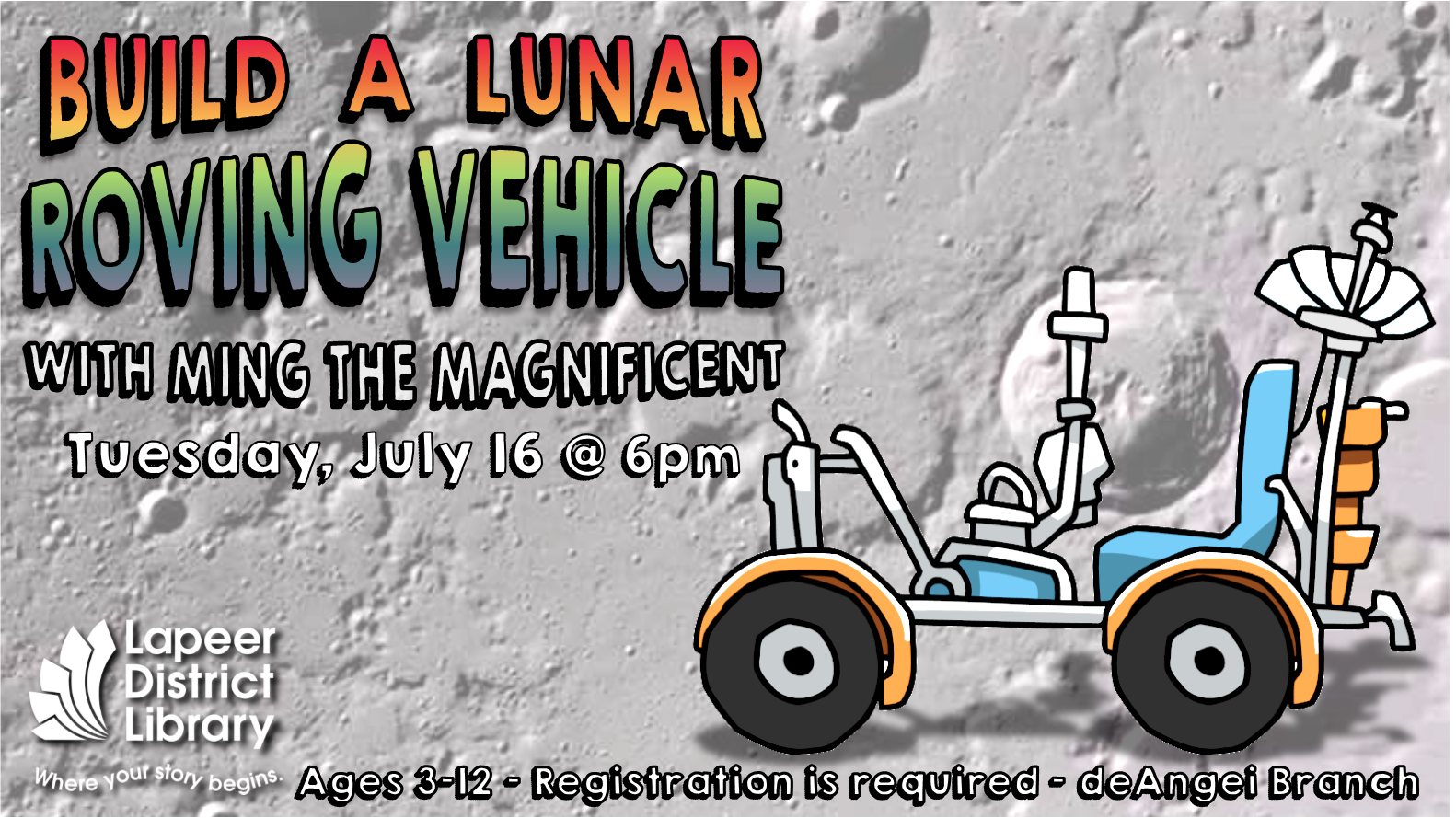 Build a Lunar Roving Vehicle with Ming the Magnificent