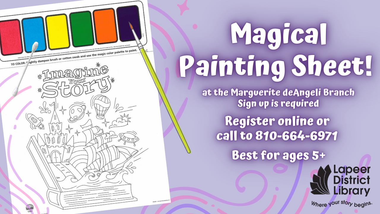 Magical Painting Sheet - Take Home Craft