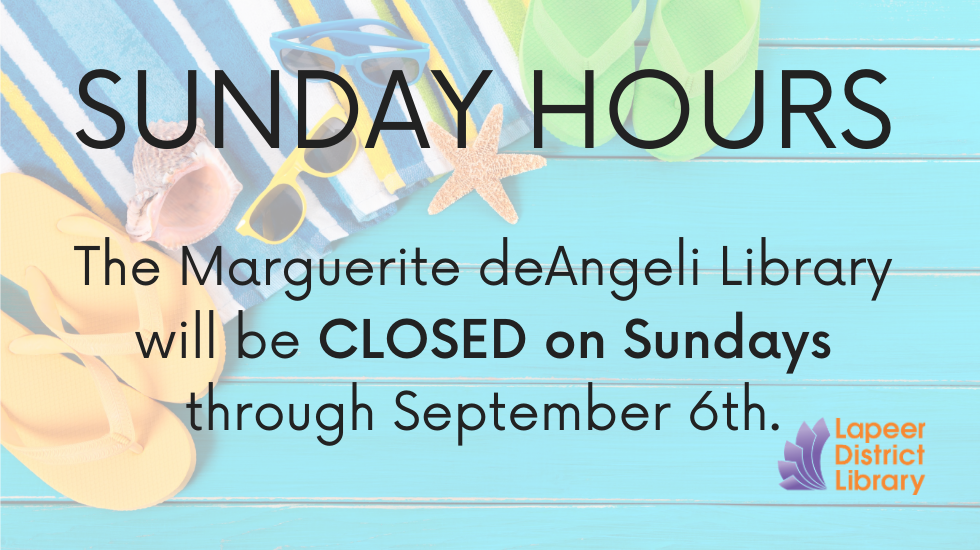 CLOSED - Sunday summer hours