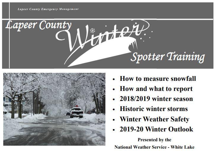 Winter Spotter Training