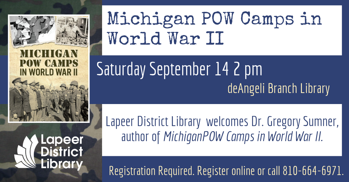 Local Author Visit: Michigan POW Camps in World War II