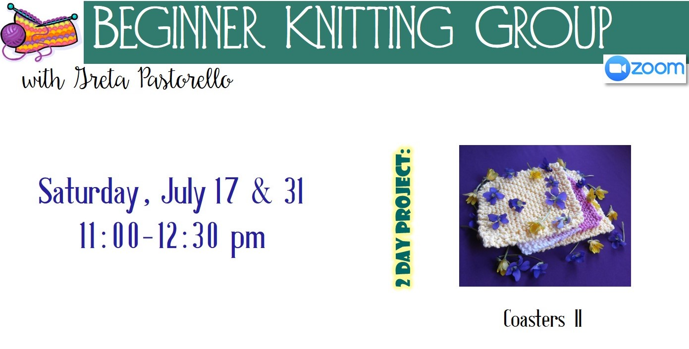 Virtual Beginner Knitting Group with Greta