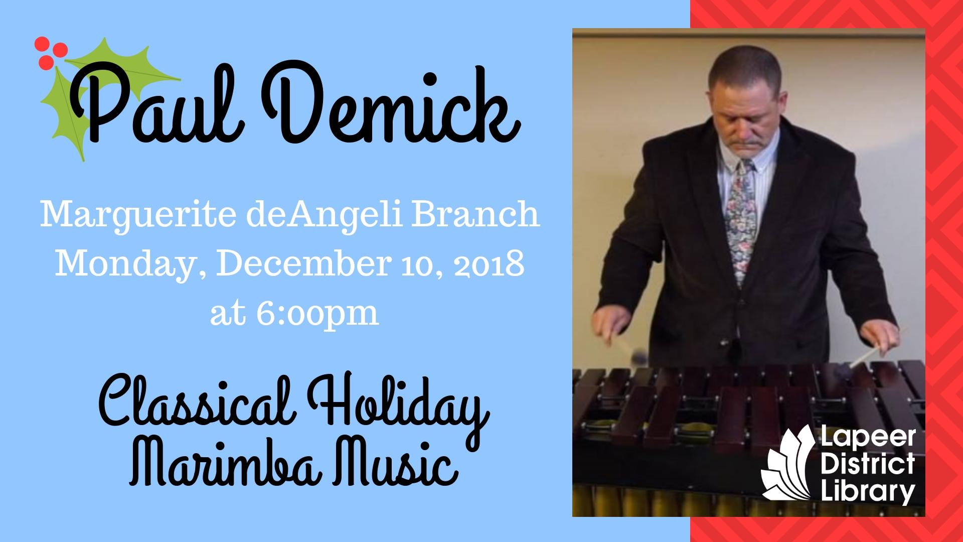Classical Holiday  Marimba Music