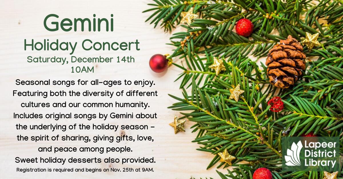 Gemini's Holiday Concert
