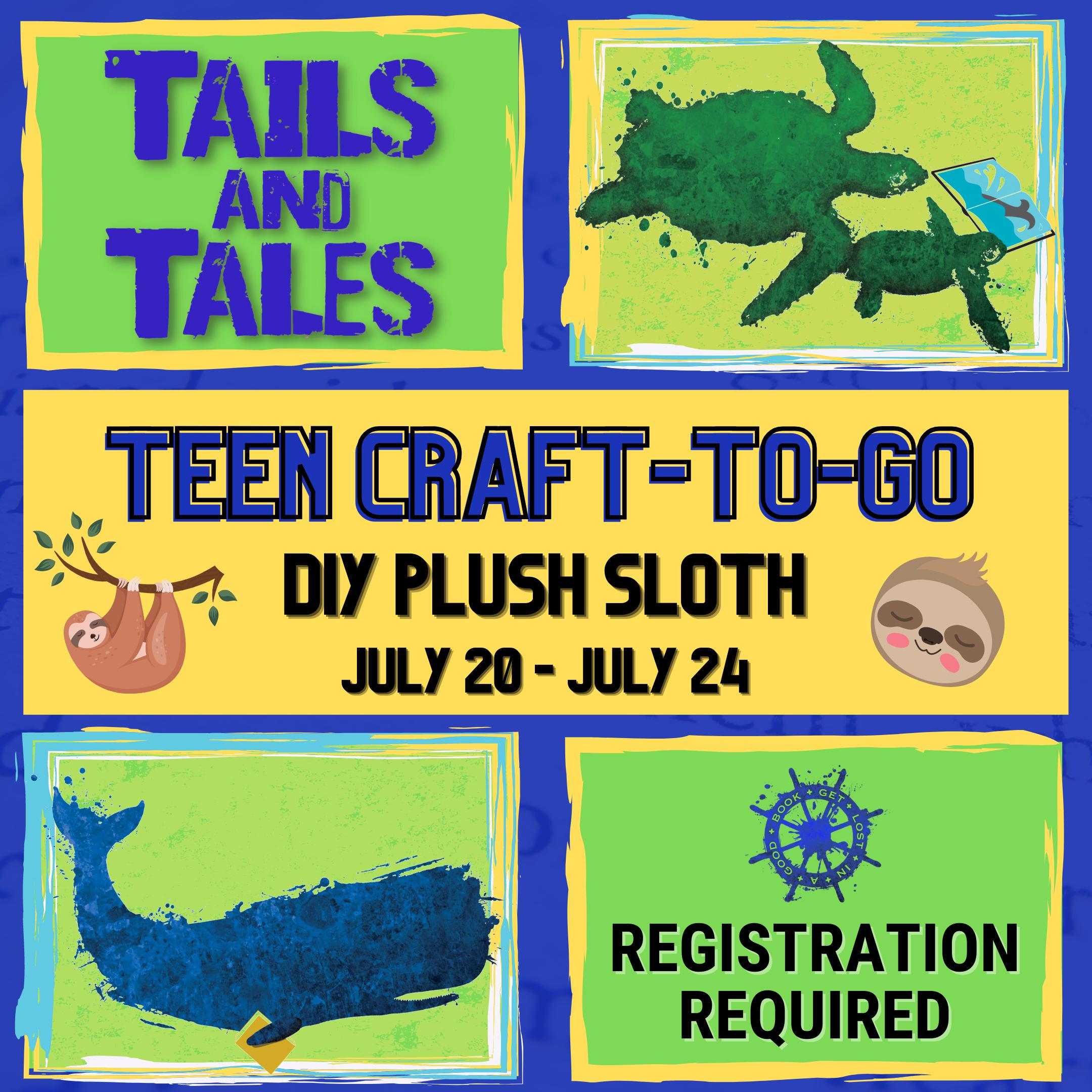 Teen Craft-To-Go: DIY Plush Sloth