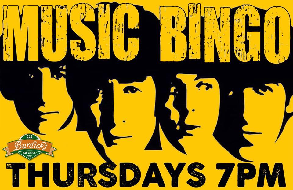 Old Burdick's Music Bingo (Wings West)