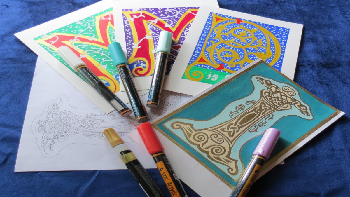 Illuminated Letter Art Class