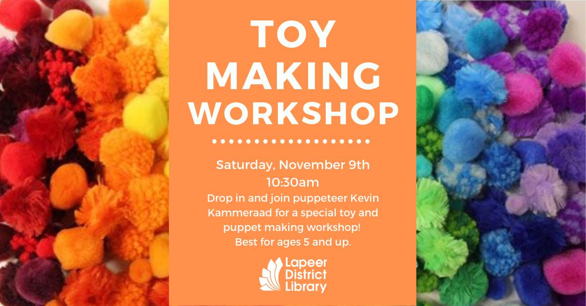 Toymaking Workshop with Kevin Kammeraad